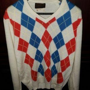 Vintage Argyle Sweater 1970s-80s